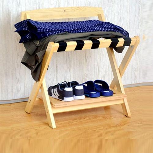Giá đỡ hành lý gỗ