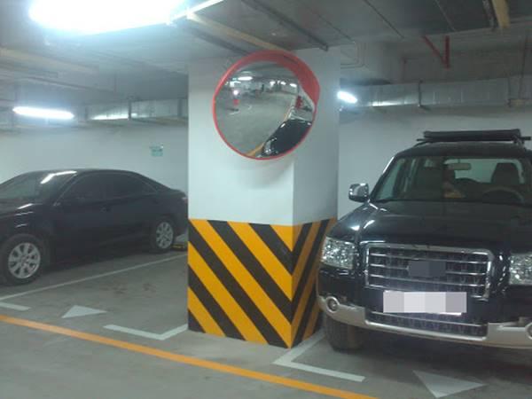 Được sử dụng trong các hầm để xe giúp ô tô, xe máy di chuyển dễ dáng, tránh va quẹt không đáng có