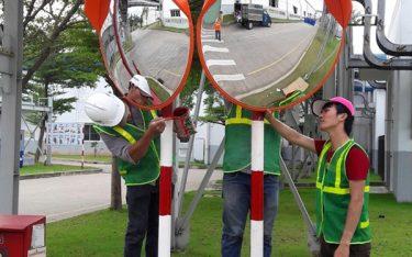 Hướng dẫn cách lắp đặt gương cầu lồi giao thông chuẩn từng bước