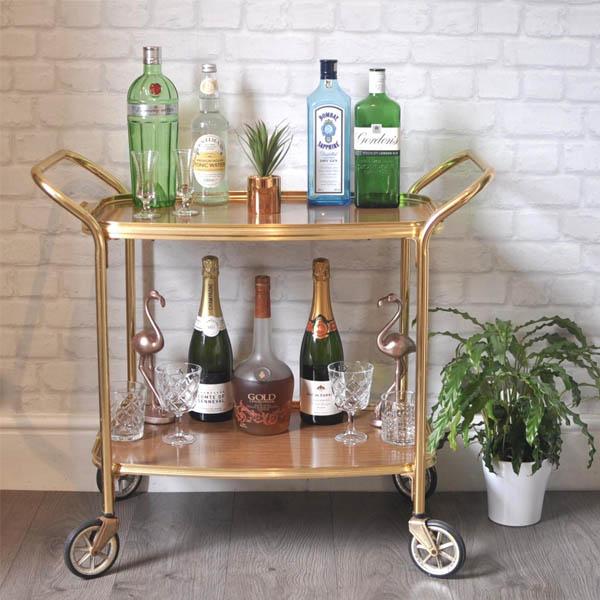 mẫu xe đẩy phục vụ rượu