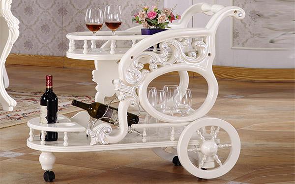 20+ mẫu xe đẩy phục vụ rượu đẹp, sang trọng dành cho nhà hàng