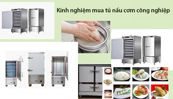 Tủ nấu cơm công nghiệp có nhiều mức công suất khác nhau, lượng khay khác nhau để người dùng lựa chọn