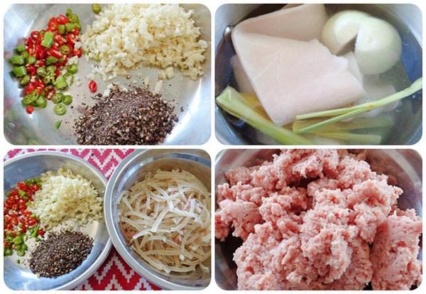Nguyên liệu làm nên món nem đặc sản Ninh Bình