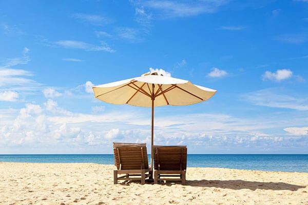 Ô bãi biển tạo nên không gian lịch sự, sang trọng hơn