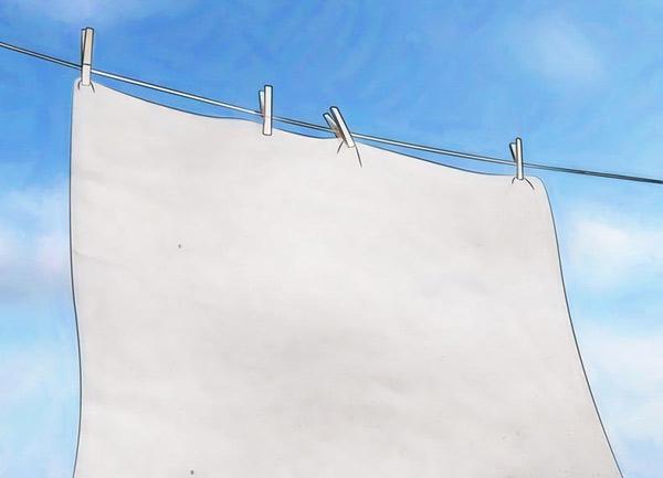 Phơi khăn dưới điều kiện có ánh nắng và gió là tốt nhất
