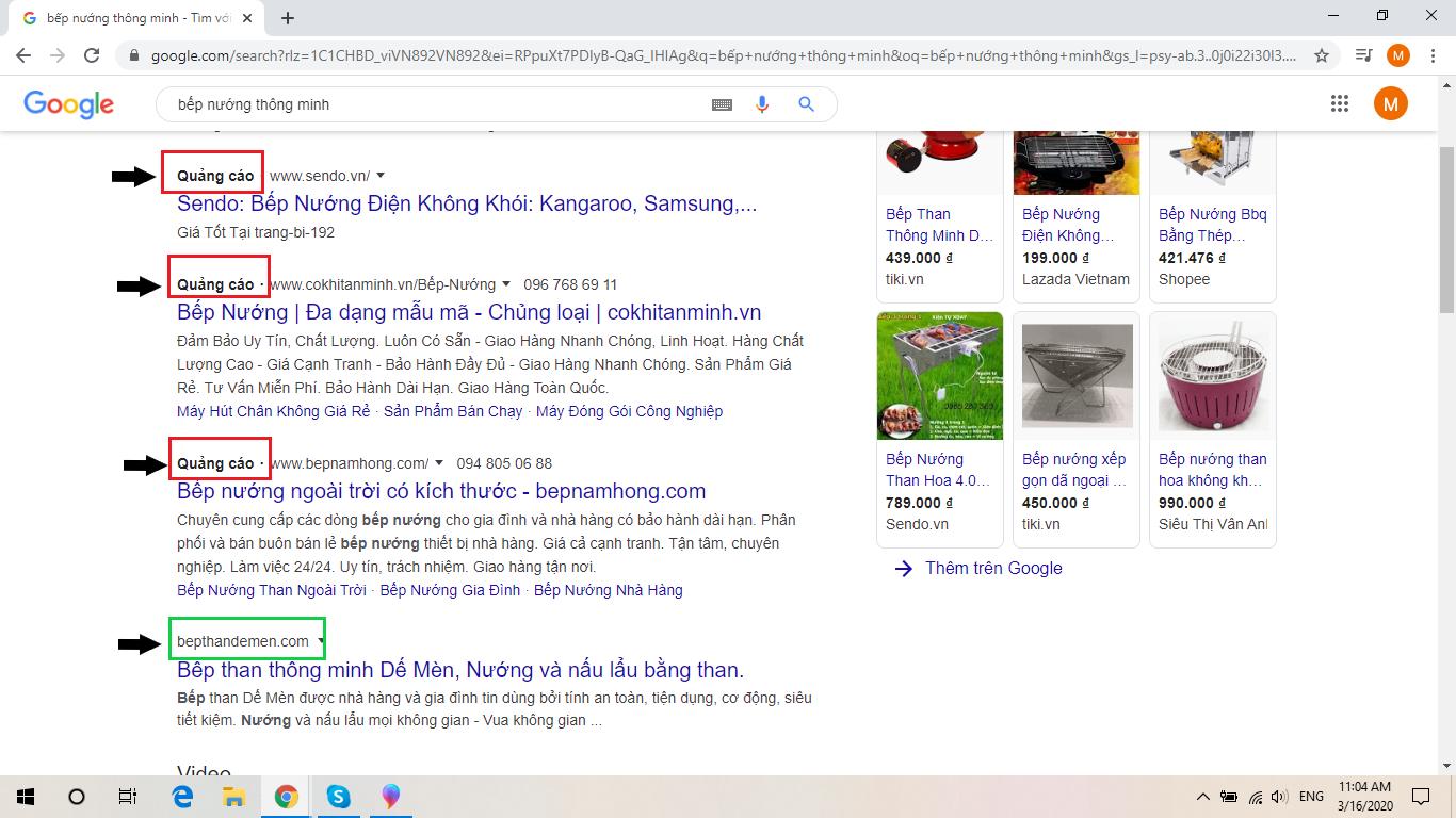 Sự khác biệt giữa sử dụng Google ads và không dùng Google Ads