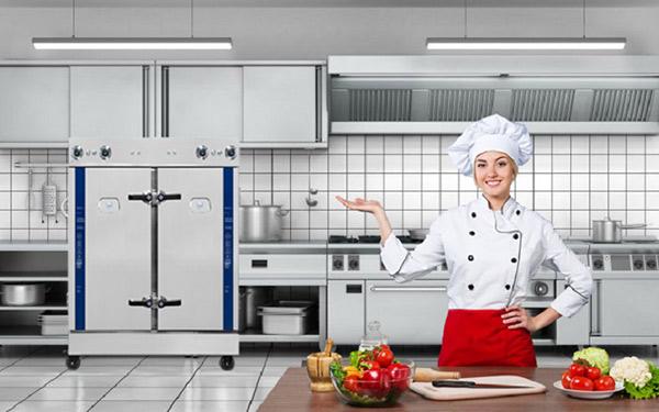Tủ nấu cơm giúp nấu được lượng lớn cơm mà lại tiết kiệm nhiên liệu tối đa, giúp khách sạn tiết kiệm được chi phí