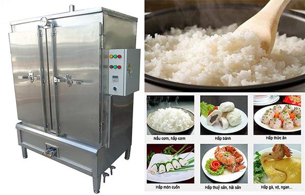 Tủ nấu cơm công nghiệp với nhiều công suất, khay đựng khác nhau, nấu được lượng cơm lớn trong 1 lần sử dụng