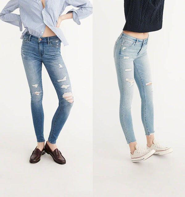 Vải jean được phân loại theo độ co giãn và thành phần