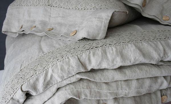 Vải ren còn được sử dụng để làm chăn ga gối nệm