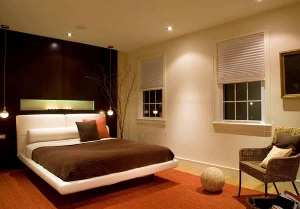 Đèn âm trần giúp phòng ngủ có đủ ánh sáng nhưng không bị chói mắt
