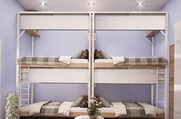 Mẫu chăn ga gối cho giường đơn nhẹ nhàng nhưng rất thu hút