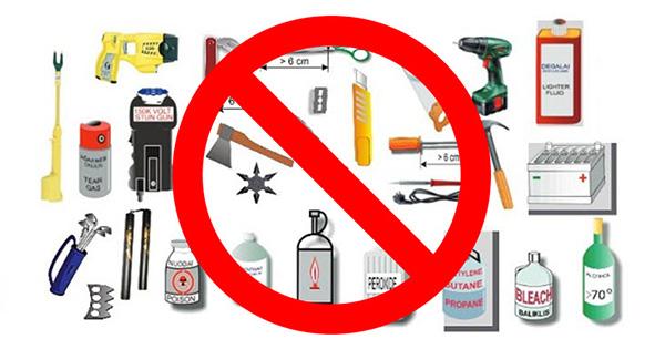 Những vật dụng không được phép mang theo khi lên máy bay