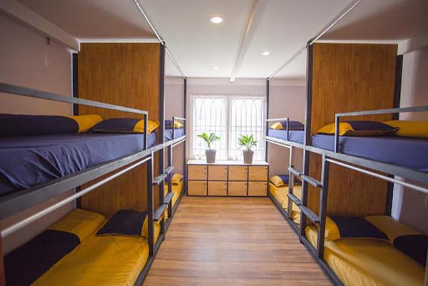 Giường tầng được sử dụng rộng rãi trong các homestay