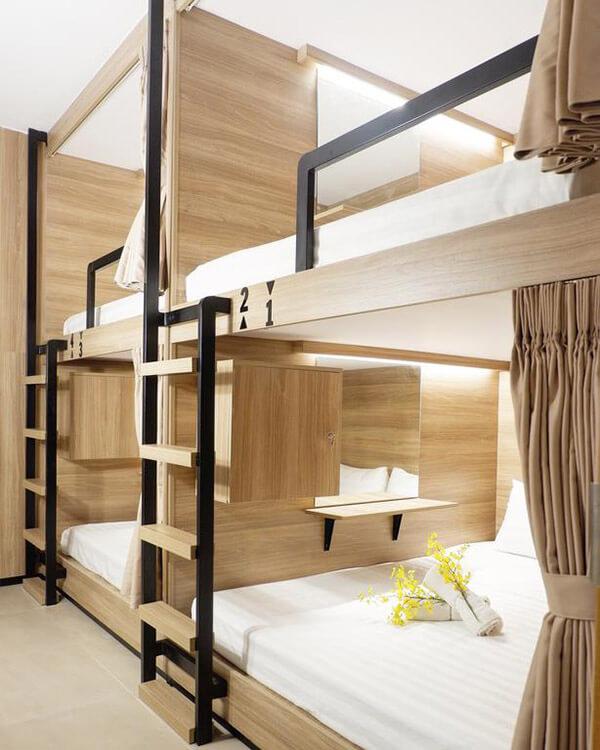 Độ dày của đệm giường tầng không được chênh quá nhiều với thành giường