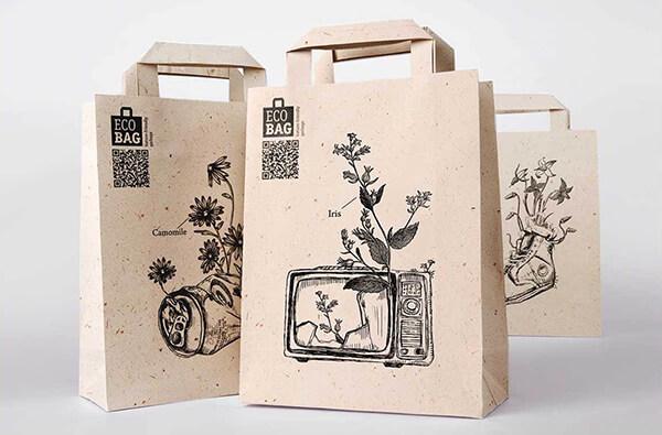 Các loại túi đựng làm từ giấy kraft