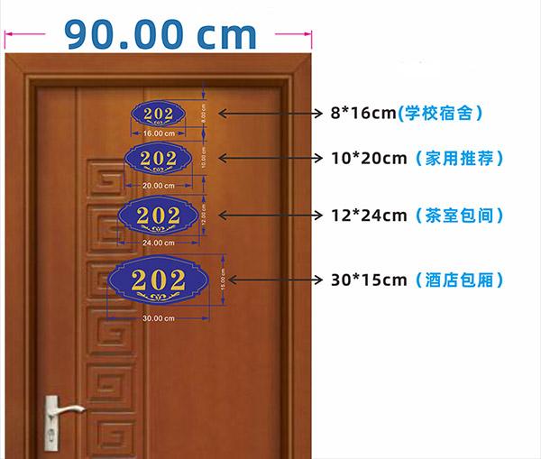 Hiện biển số phòng được thiết kế đa dạng với nhiều kích thước để người dùng lựa chọn