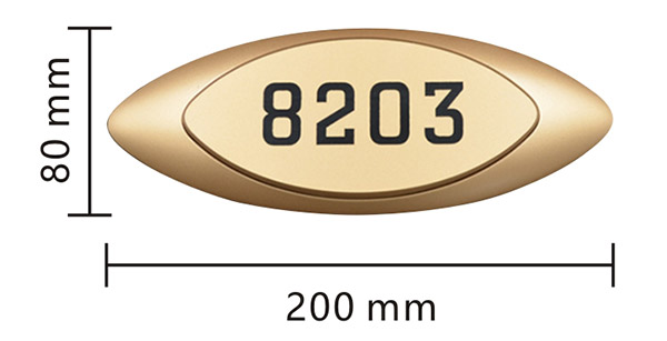 Kích thước biển 8 x 20 cm