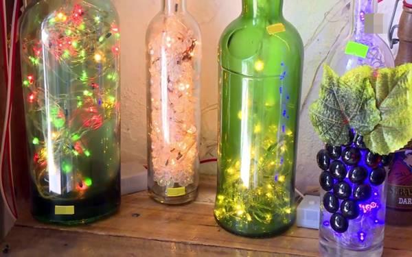 Gợi ý cách làm đèn ngủ bằng chai thủy tinh đẹp xuất sắc