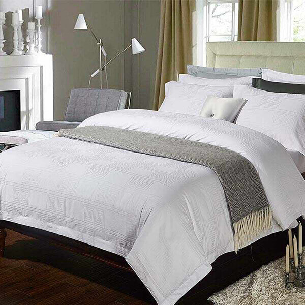 Vải cotton khá được ưa chuộng để may chăn ga trong khách sạn