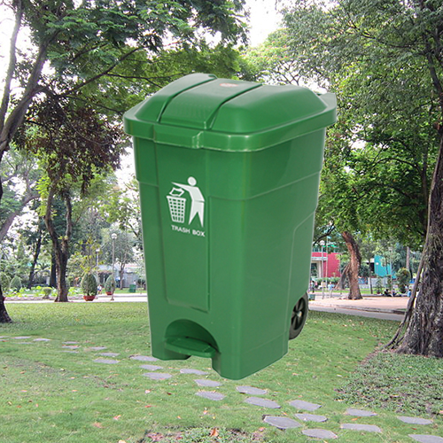Thùng rác nhựa đạp chân 70 lít