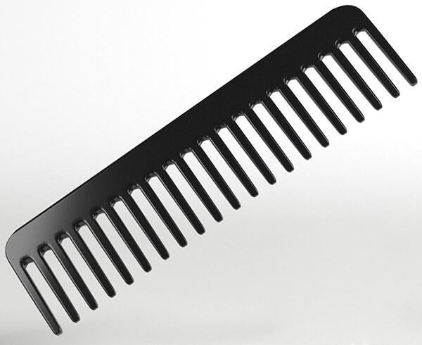 Lược răng thưa màu đen cao cấp, dễ sử dụng