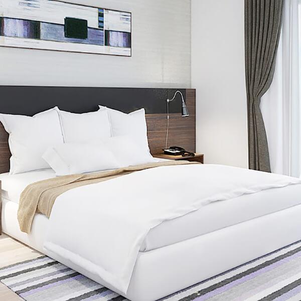 Vải CVC được sử dụng phổ biến hơn ở những khách sạn hoặc nhà nghỉ bình dân