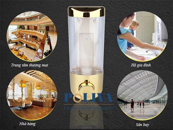 Bình đựng nước rửa tay cảm ứng thường được dùng tại nơi công cộng