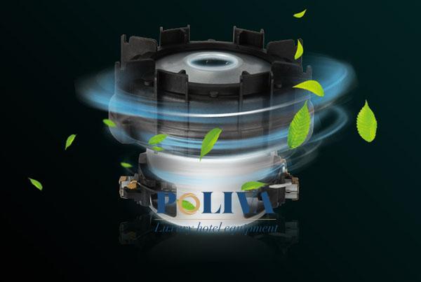 Động cơ của thiết bị tạo ra khí CO2 ít hơn so với khăn giấy