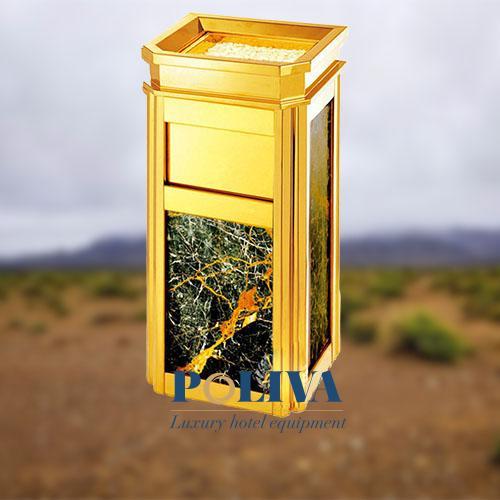 Thùng rác Inox ốp đá hoa cương