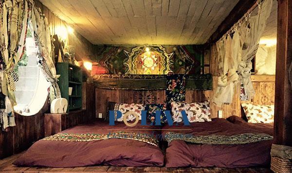 Nệm cuộn trải sàn sử dụng trong phòng ngủ tập thể