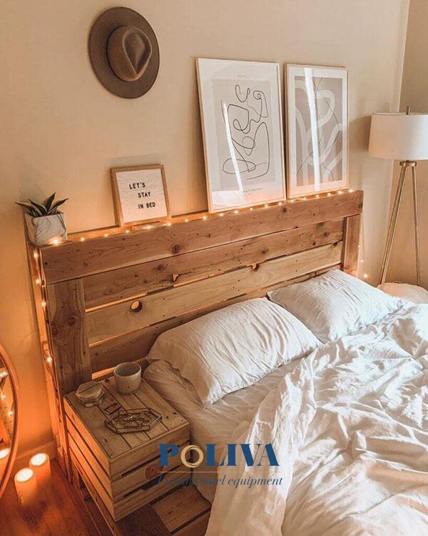 Cuối cùng trong cách làm giường là bạn sẽ được tha hồ trang trí theo ý muốn thôi!