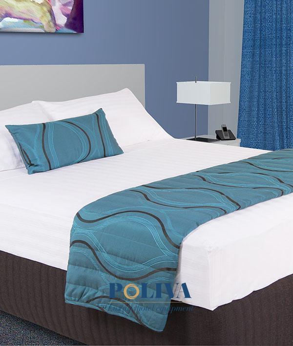 Tấm trang trí giường cotton poly được trần bông dày dặn