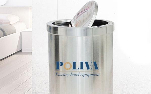 3 đặc điểm thùng rác inox nắp lật của Poliva chinh phục người dùng