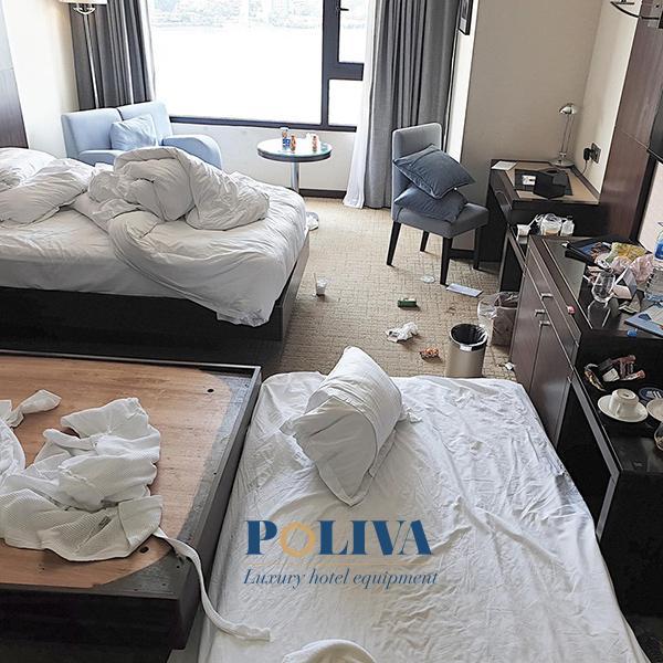 Bạn không nên biến căn phòng của khách sạn trở thành bãi rác