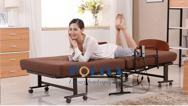 Kích thước giường đủ dài rộng để cho một người nằm, đi cùng chất liệu đệm bảo êm ái