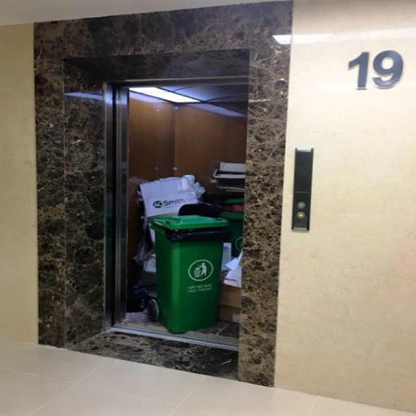 hệ thống đổ rác chung cư