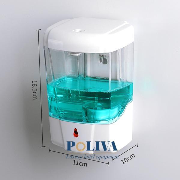 Thông số kích thước hộp đựng dung dịch xà phòng của Poliva