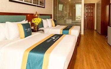 Vì sao cần in logo khách sạn lên tấm vải trải ngang giường?
