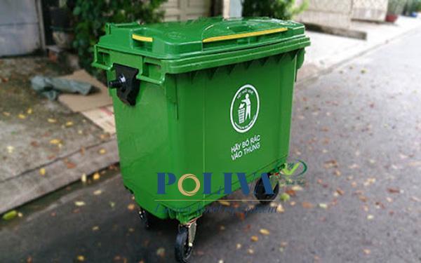 thùng rác dung tích lớn