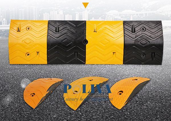 Gờ giảm tốc độ có cấu tạo gồm 2 đầu gờ và thân gờ
