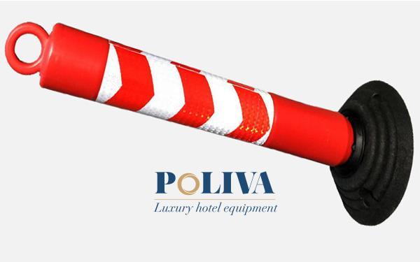 Mẫu thiết kế có phần móc ở đầu cọc để căng dây làm rào chắn tiện lợi, mẫu này được sử dụng nhiều trong việc làm rào chắn