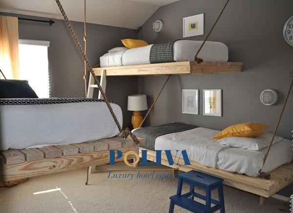 Loại giường này rất bắt mắt và khiến khách nghỉ chân thích thú