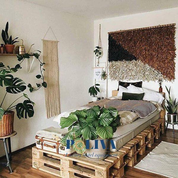 Loại giường đơn pallet cũng rất được ưa chuộng ở homestay