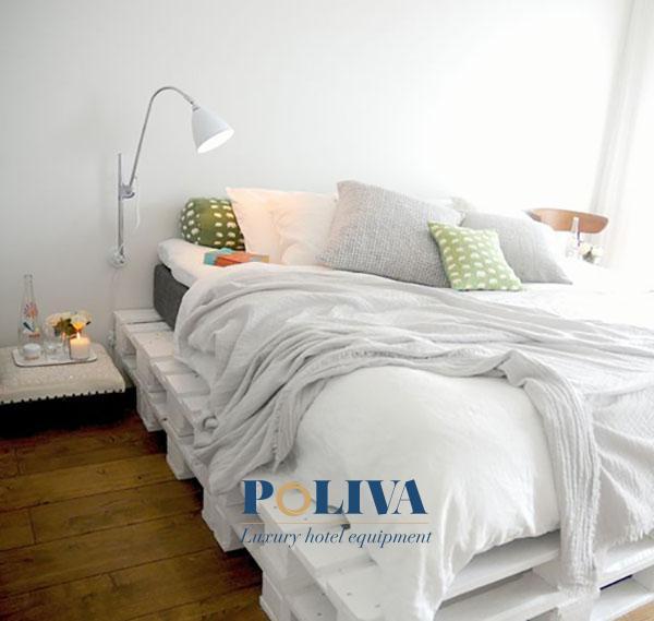 Giường pallet trắng luôn đảm bảo tính thẩm mỹ cao
