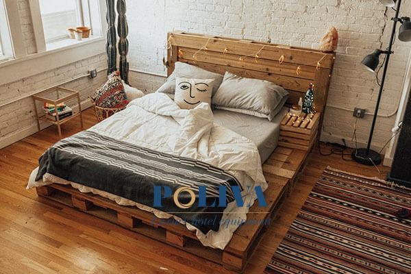Giường pallet không cầu kỳ, dễ phối hợp decor với bất cứ phong cách nào