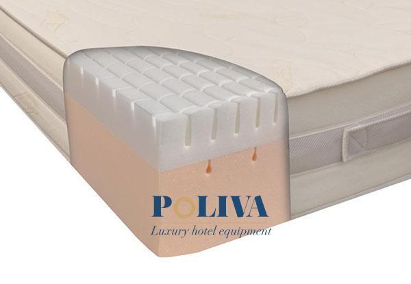 Memory foam được cấu tạo từ lớp bộ nhớ bọt polyurethane (PU) với các chất phụ gia khác