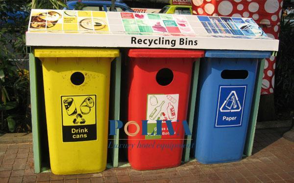 Mỗi ngăn sẽ ghi chú chuyên dụng đựng loại rác thải gì