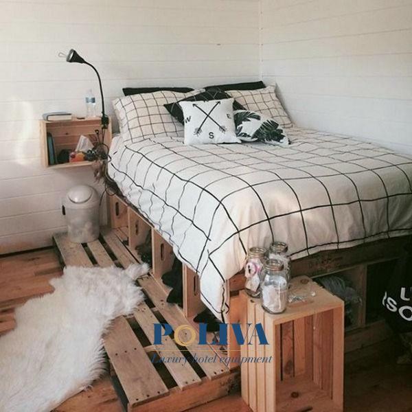 Giường pallet gỗ giá rẻ và có thể ứng dụng trong nhiều không gian khác nhau