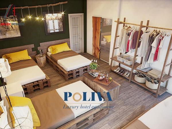 Dù là kích thước giường đơn hay giường đôi thì giường gỗ pallet cũng có thể đáp ứng